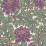 Cole & Son Aurora Mulberry / Sage / Parchment Wallpaper - Product code: 116/1001