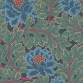 Cole & Son Aurora Petrol / Teal / Ink Wallpaper - Product code: 116/1003