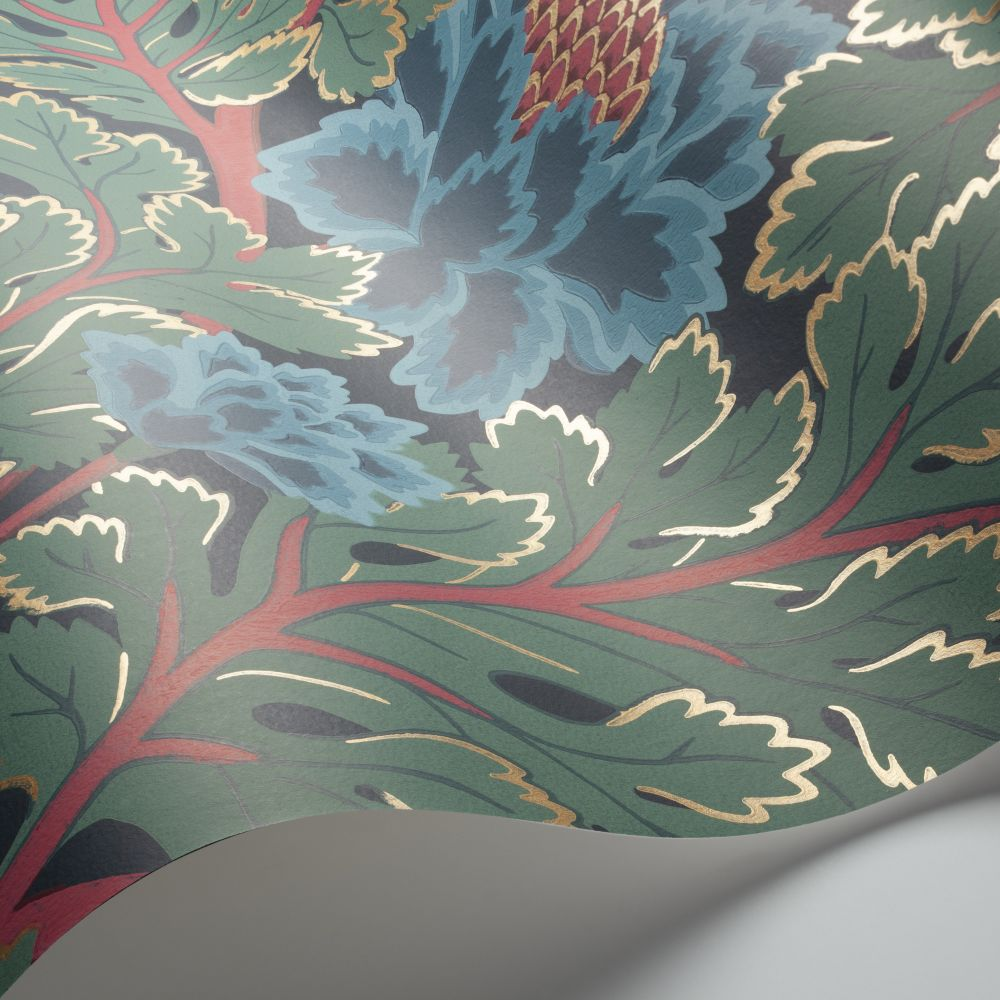 Aurora Wallpaper - Petrol / Teal / Ink - by Cole & Son