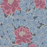 Cole & Son Aurora Cerise / Cerulean Blue / Midnight Wallpaper - Product code: 116/1004