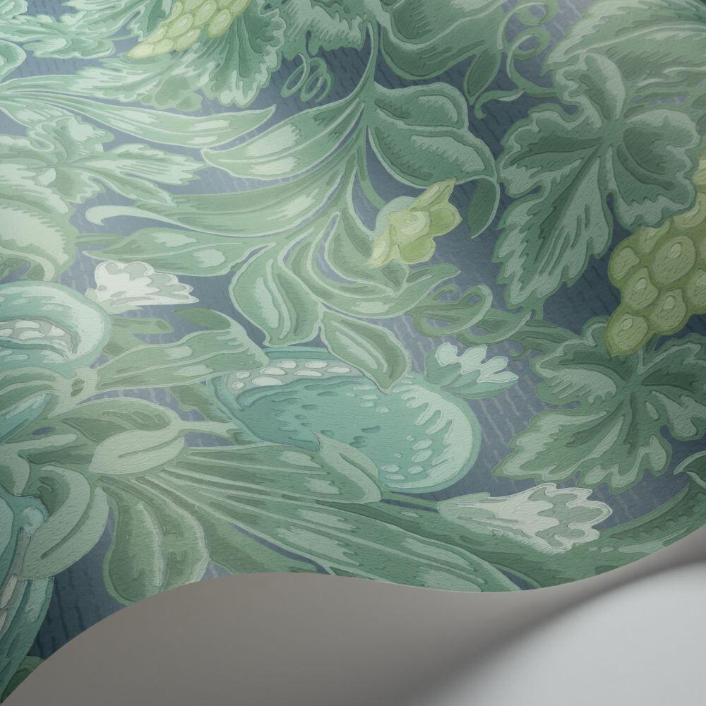 Vines of Pomona Wallpaper - Teal / Viridian / Denim - by Cole & Son