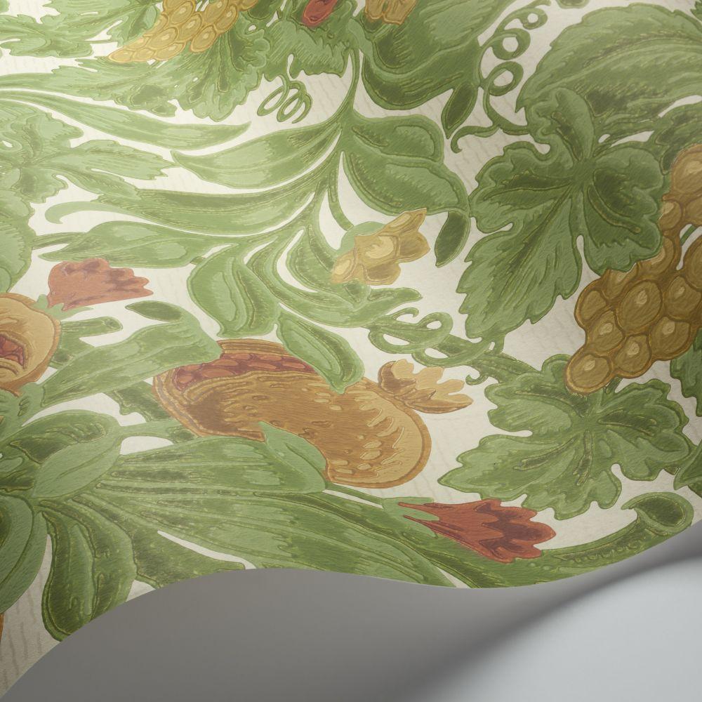 Vines of Pomona Wallpaper - Ochre / Olive Green / Cream - by Cole & Son