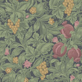 Cole & Son Vines of Pomona Crimson / Olive / Charcoal Wallpaper - Product code: 116/2008