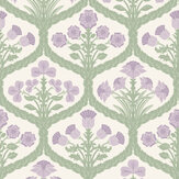 Cole & Son Floral Kingdom Mulberry / Olive Green / Parchment Wallpaper - Product code: 116/3012