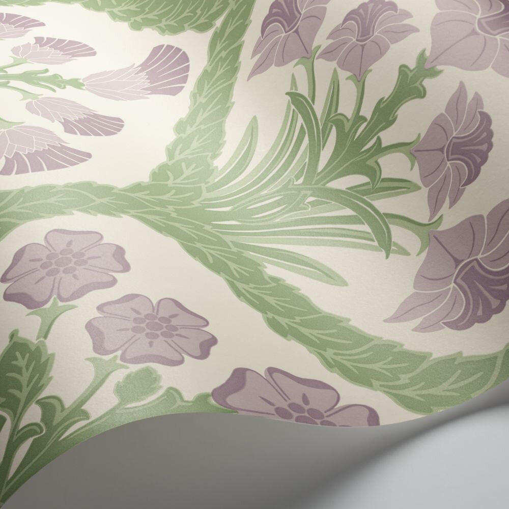 Floral Kingdom Wallpaper - Mulberry / Olive Green / Parchment - by Cole & Son