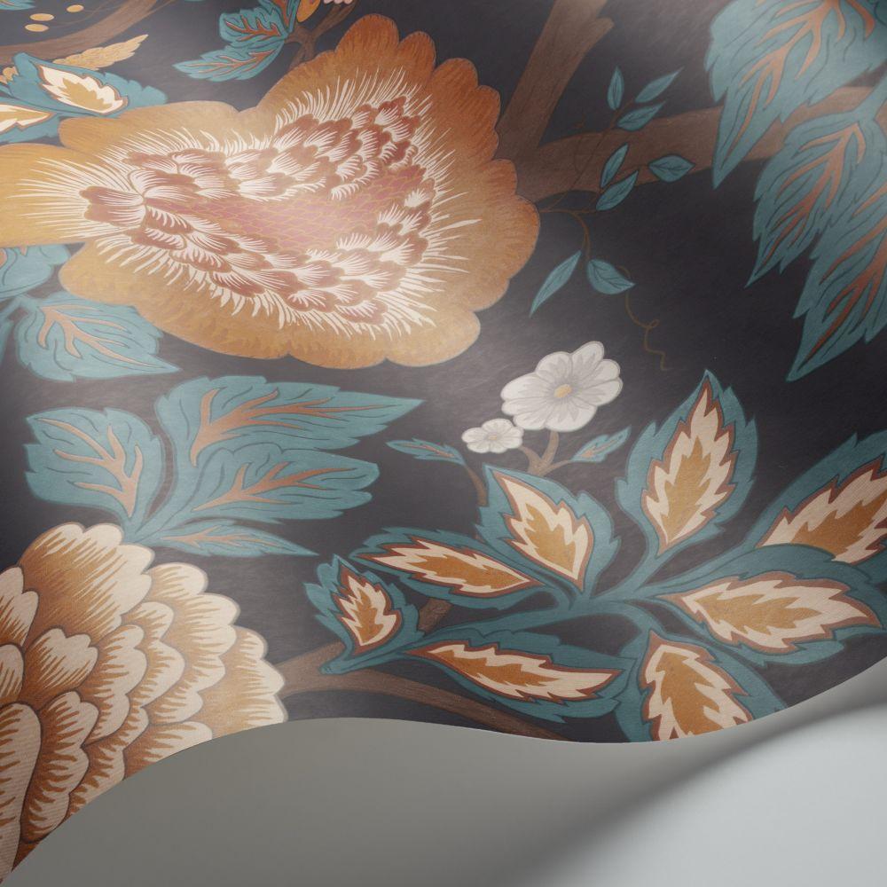Cole & Son Midsummer Bloom Burnt Orange / Rose / Petrol / Ink Wallpaper - Product code: 116/4014