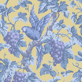 Cole & Son Woodvale Orchard Hyacinth / Lilac / China Blue / Ochre Wallpaper - Product code: 116/5017