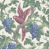Cole & Son Woodvale Orchard Rose / Hyacinth / Forest Green / Parchment Wallpaper - Product code: 116/5018
