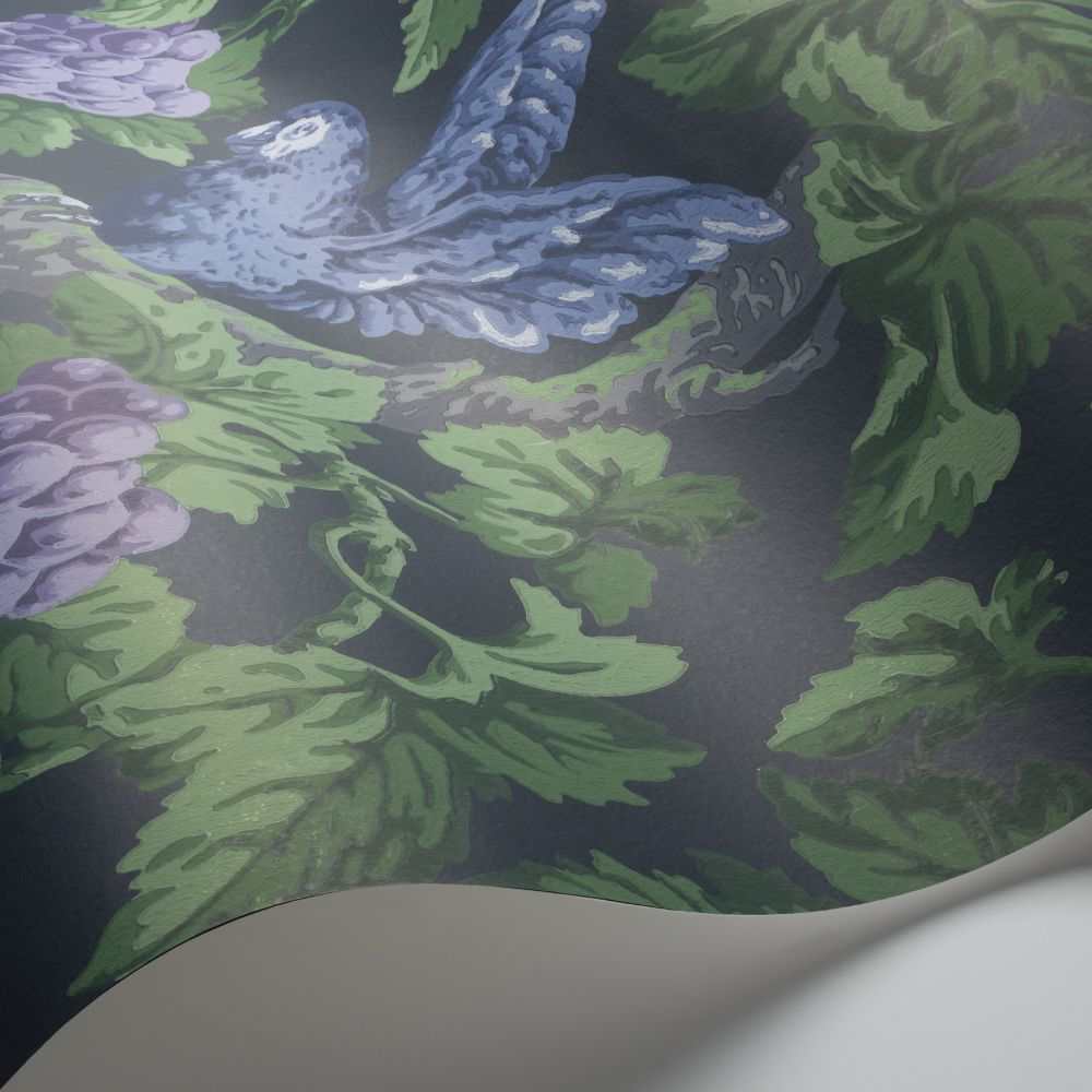 Cole & Son Woodvale Orchard Violet / Purple / Forest Green / Ink Wallpaper - Product code: 116/5019