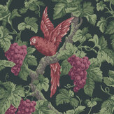 Cole & Son Woodvale Orchard Ruby / Rose / Olive Green / Charcoal Wallpaper - Product code: 116/5020
