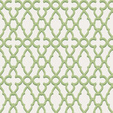 Cole & Son Treillage Leaf Green / Chalk Wallpaper - Product code: 116/6022