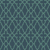 Cole & Son Treillage Viridian / Ink Wallpaper - Product code: 116/6023