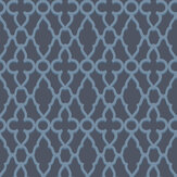 Cole & Son Treillage Cerulean Blue / Midnight Wallpaper - Product code: 116/6024