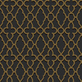 Cole & Son Treillage Metallic Bronze / Charcoal Wallpaper - Product code: 116/6025