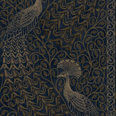 Cole & Son Pavo Parade Metallic Bronze / Midnight Wallpaper - Product code: 116/8030