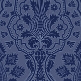 Cole & Son Pugin Palace Flock Dark Hyacinth Wallpaper - Product code: 116/9033