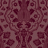 Cole & Son Pugin Palace Flock Claret Wallpaper - Product code: 116/9034