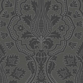 Cole & Son Pugin Palace Flock Charcoal Wallpaper - Product code: 116/9035