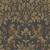 Cole & Son Boscobel Oak Metallic Antique Gold / Black Wallpaper - Product code: 116/10036