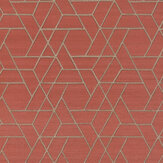 Jane Churchill Zelma Red Wallpaper - Product code: J8008-01