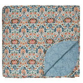 Morris Little Chintz Quilted Bedspread Teal Throw - Product code: QTBLICTZTEA1