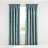 Morris Little Chintz Lined Curtains Teal Ready Made Curtains - Product code: LCRLICT7TEA