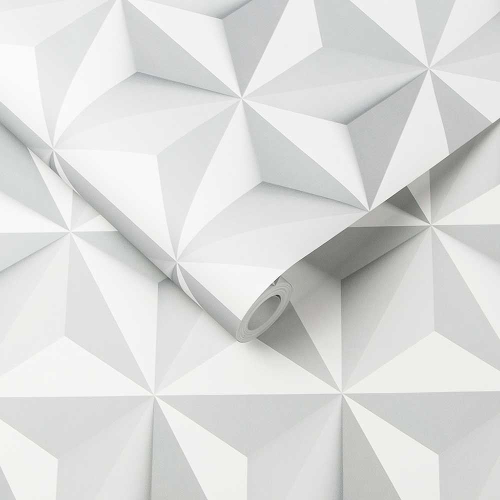 Graham & Brown Origami Grey Wallpaper - Product code: 102148