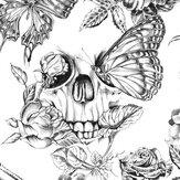 Graham & Brown Skull Roses Black / White Wallpaper - Product code: 104560