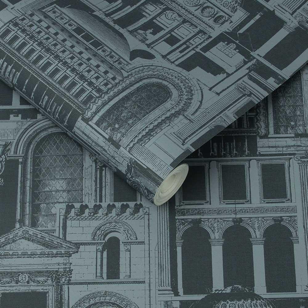 Graham & Brown Quarters Ink Wallpaper - Product code: 105287