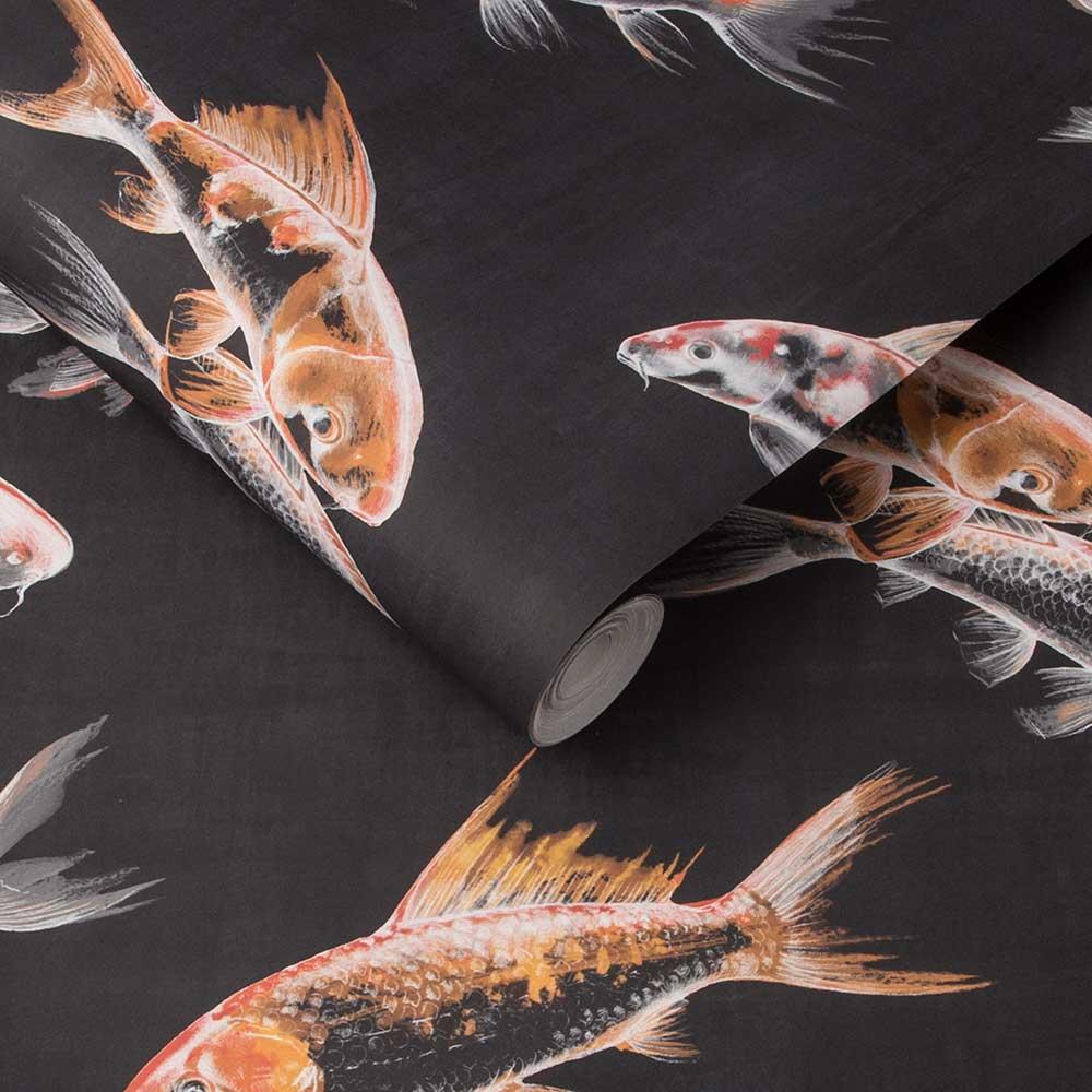 Graham & Brown Flow Black Wallpaper - Product code: 105911