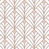 Caselio Mistinguett Rose and Gold Wallpaper - Product code: 100434049