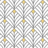 Caselio Mistinguett White and Gold Wallpaper - Product code: 100439025