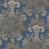Laurence Llewelyn-Bowen Latin Quarter Matt Brass / Blue Wallpaper - Product code: LLB6003