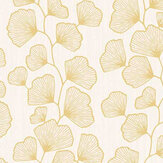 Caselio Ginko Beige and Gold Wallpaper - Product code: 100481026