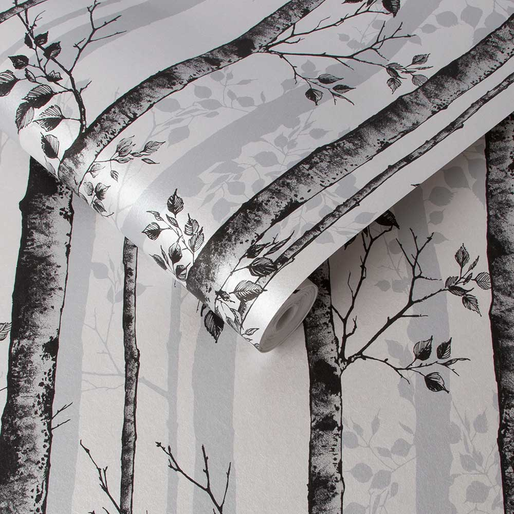 Graham & Brown Albero Black / White Wallpaper - Product code: 106424