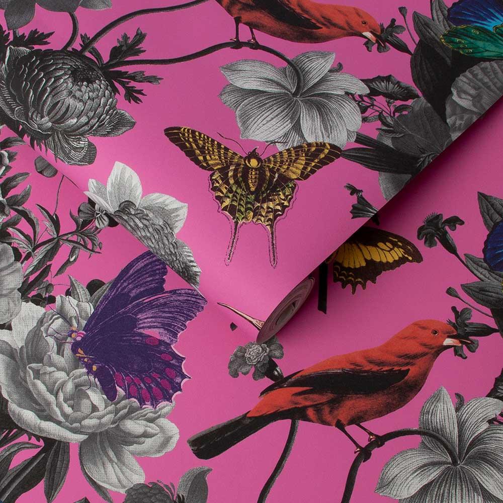 Graham & Brown Jardin Magenta Wallpaper - Product code: 106429