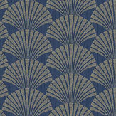 Caselio Pearl Navy Blue and Gold Wallpaper - Product code: 100496025