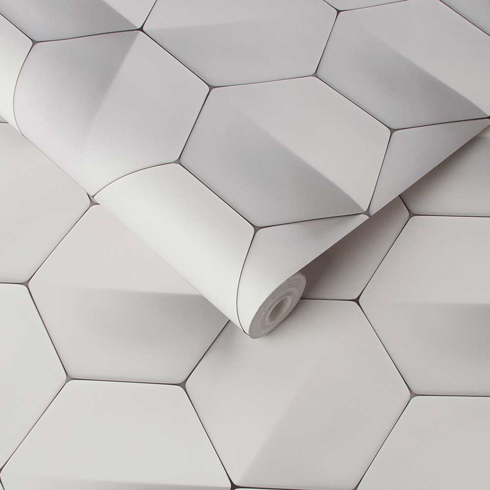 Graham & Brown Hex-a-gone Grey Wallpaper - Product code: 106439