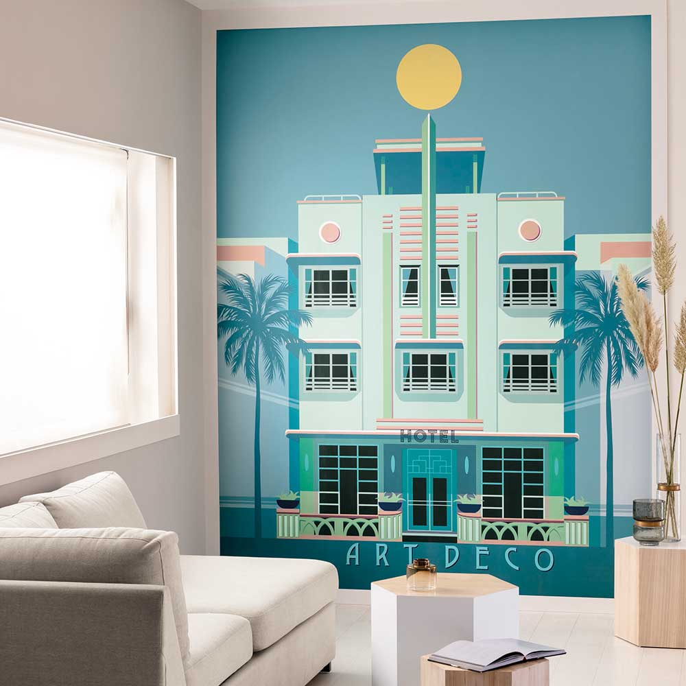 Miami by Day Mural - Strong Pastel - by Caselio