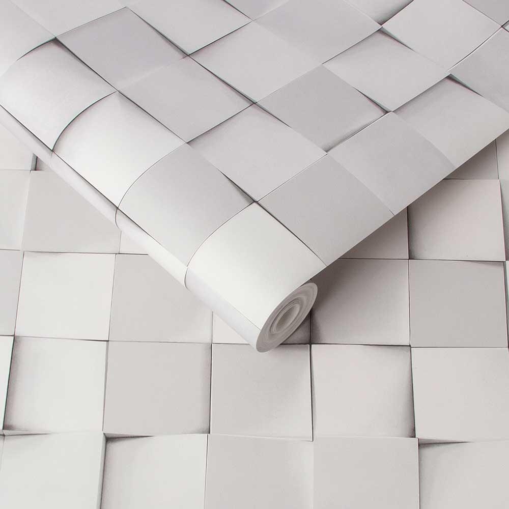 Graham & Brown Figment Grey Wallpaper - Product code: 106442