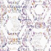 Graham & Brown Geo Damask Lilac Wallpaper - Product code: 106444