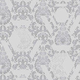 Graham & Brown Geo Damask Mist Wallpaper - Product code: 106445