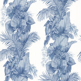 Laurence Llewelyn-Bowen Club Tropicana Blue Wallpaper - Product code: LLB6005