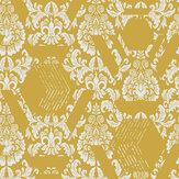 Graham & Brown Geo Damask Yellow Wallpaper - Product code: 106446