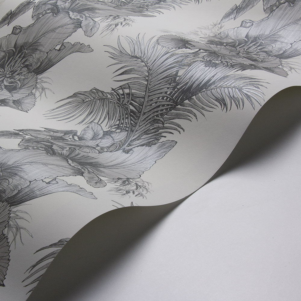 Laurence Llewelyn-Bowen Club Tropicana Grey Wallpaper - Product code: LLB6007