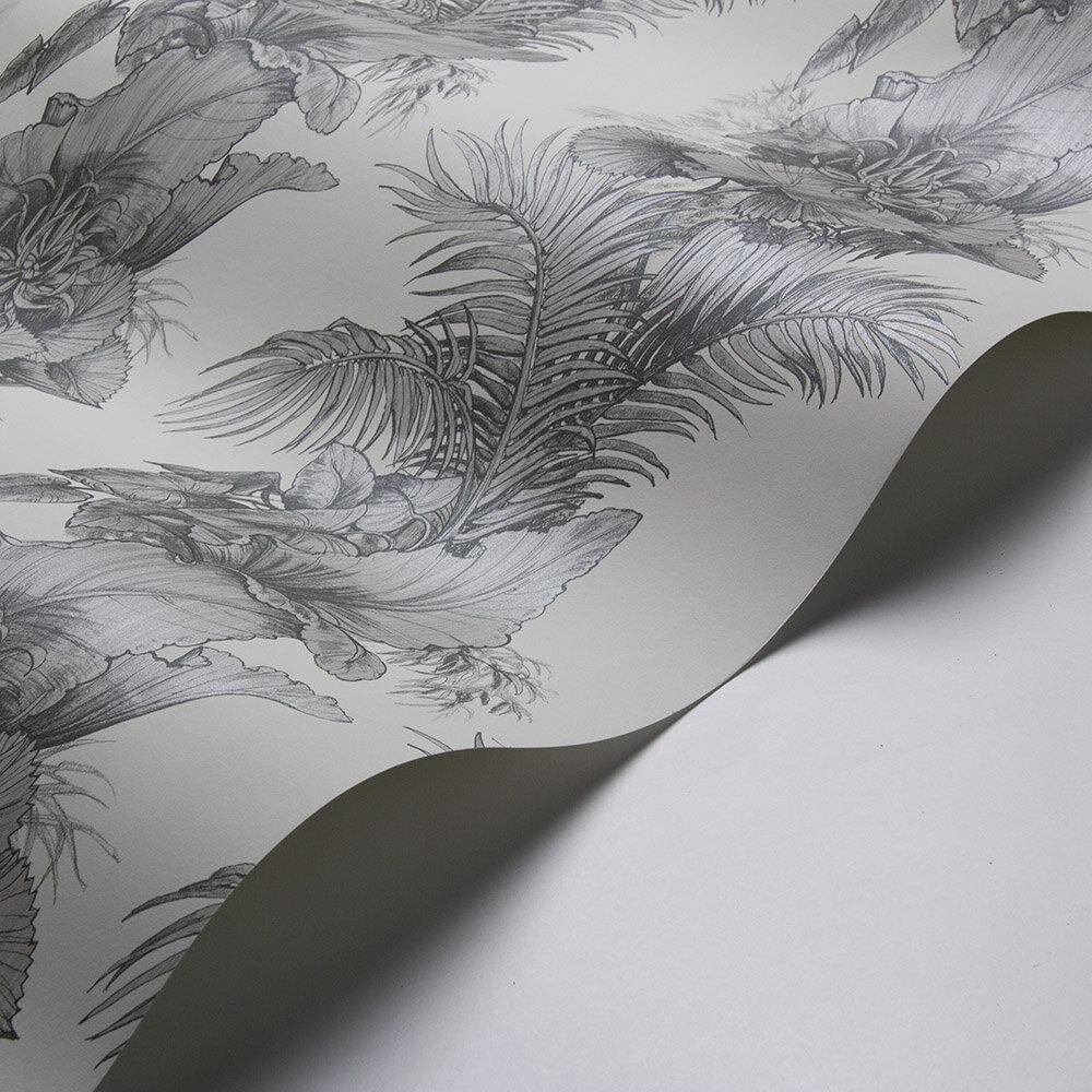 Club Tropicana Wallpaper - Grey - by Laurence Llewelyn-Bowen