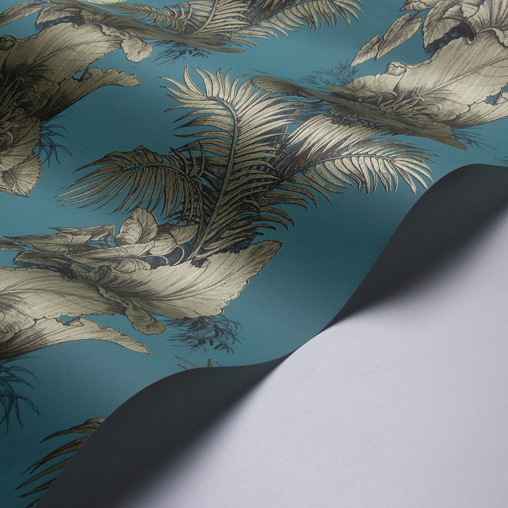 Laurence Llewelyn-Bowen Club Tropicana Bronze Wallpaper - Product code: LLB6008