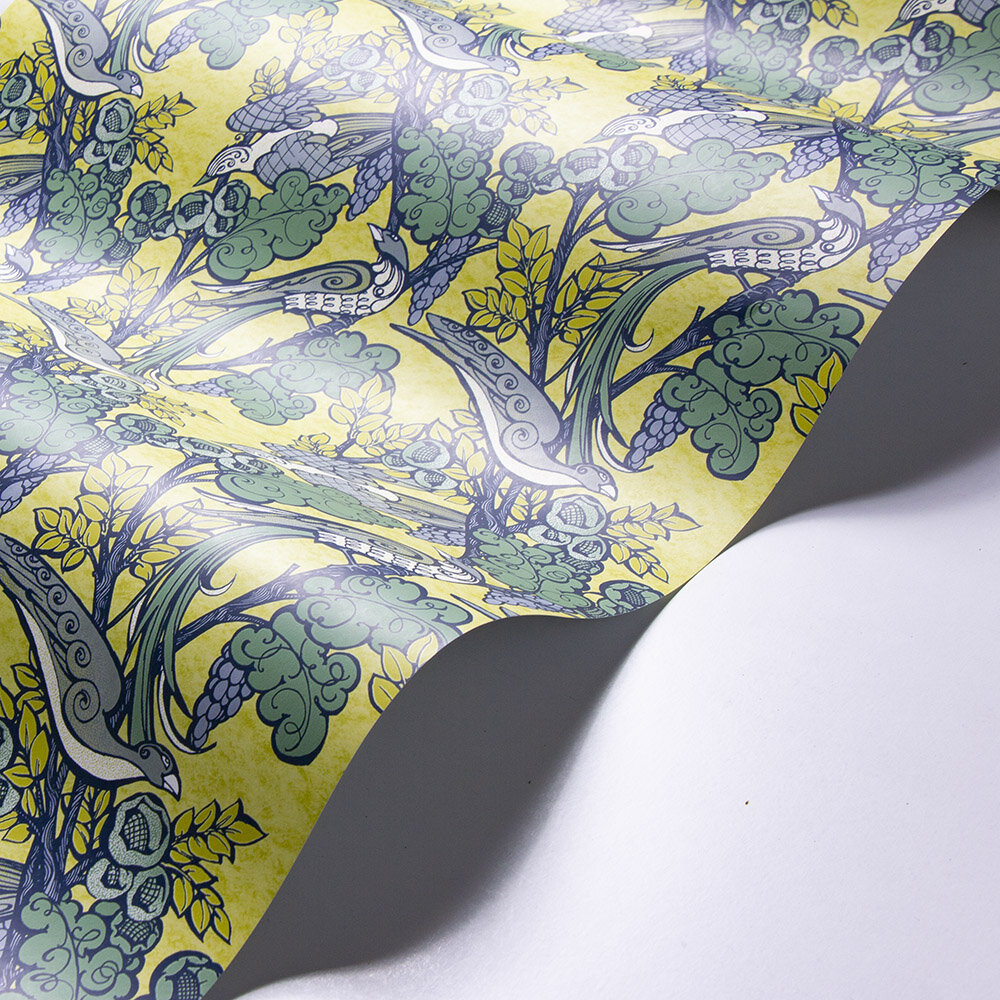 Laurence Llewelyn-Bowen Pretty Boys Yellow Wallpaper - Product code: LLB6009