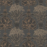 Laurence Llewelyn-Bowen Copacabana Black Copper Wallpaper - Product code: LLB6018