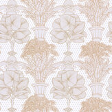 Laurence Llewelyn-Bowen Copacabana Grey / Copper Wallpaper - Product code: LLB6019